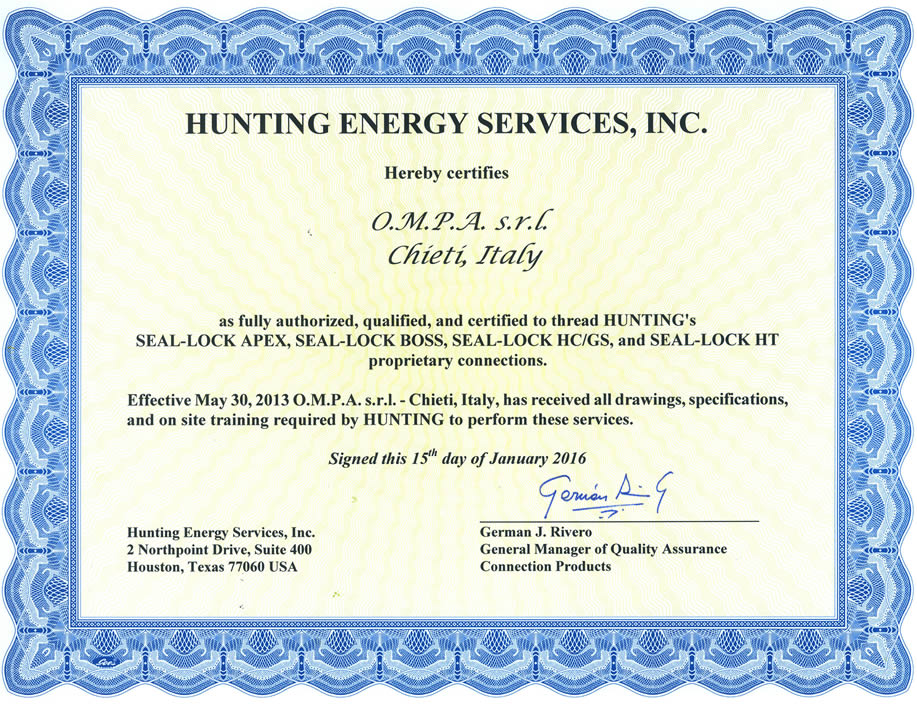 Hunting Qualification Certificate