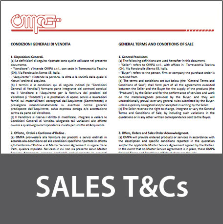 Sales terms
